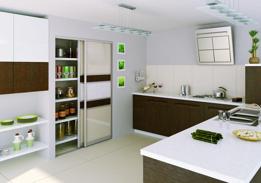 Установка шкафа в нише на кухне