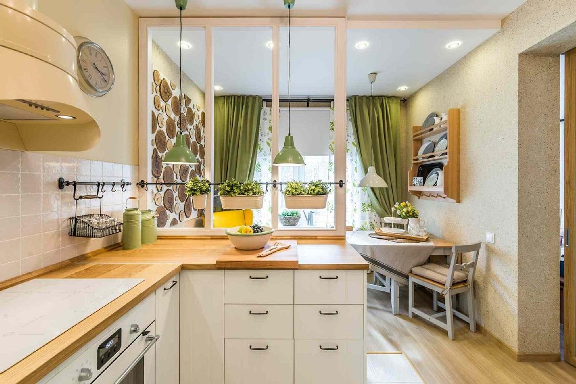 Варианты зонирования кухни 14 метров