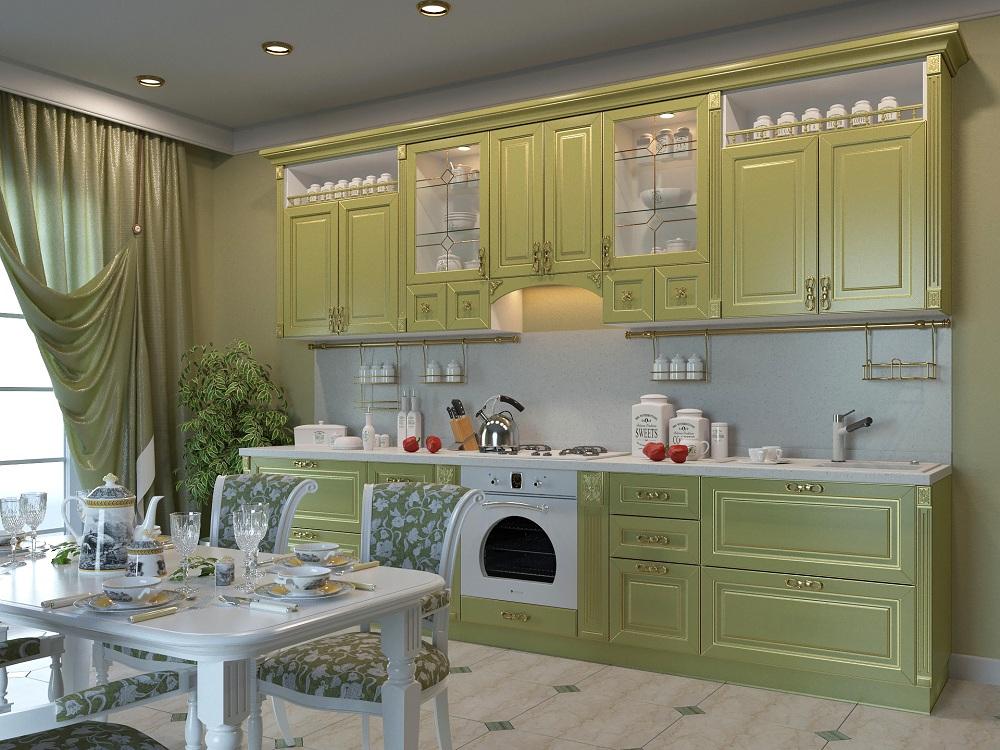 Выбор обоев, фартука и деталей интерьера на фисташковой кухне