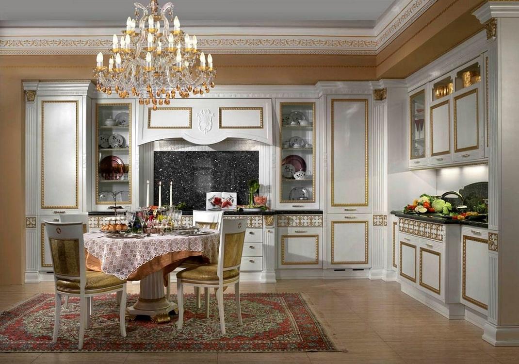 Выбор освещения на кухне в классическом стиле