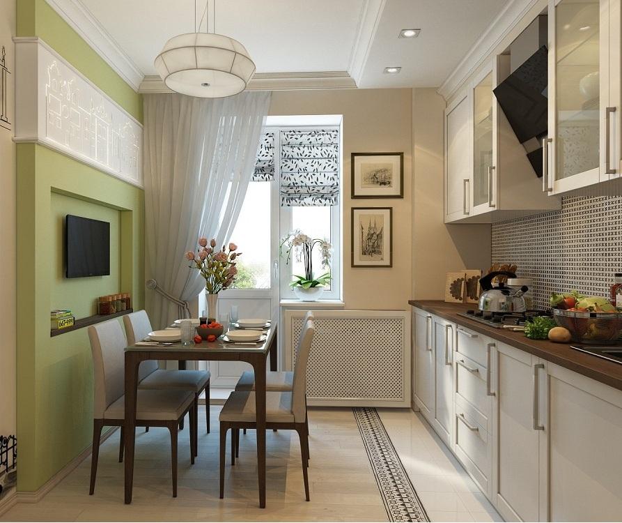 Выбор цвета для кухни 7 метров