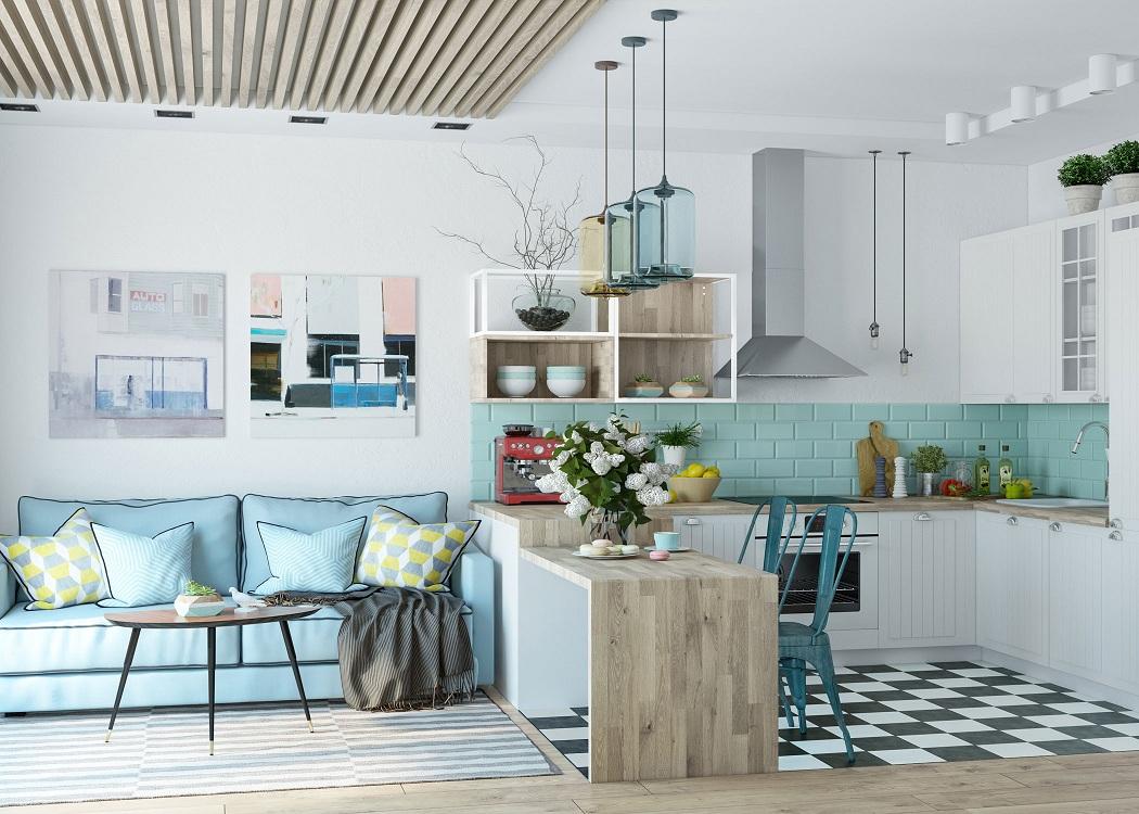Выбор цвета для кухни-гостиной