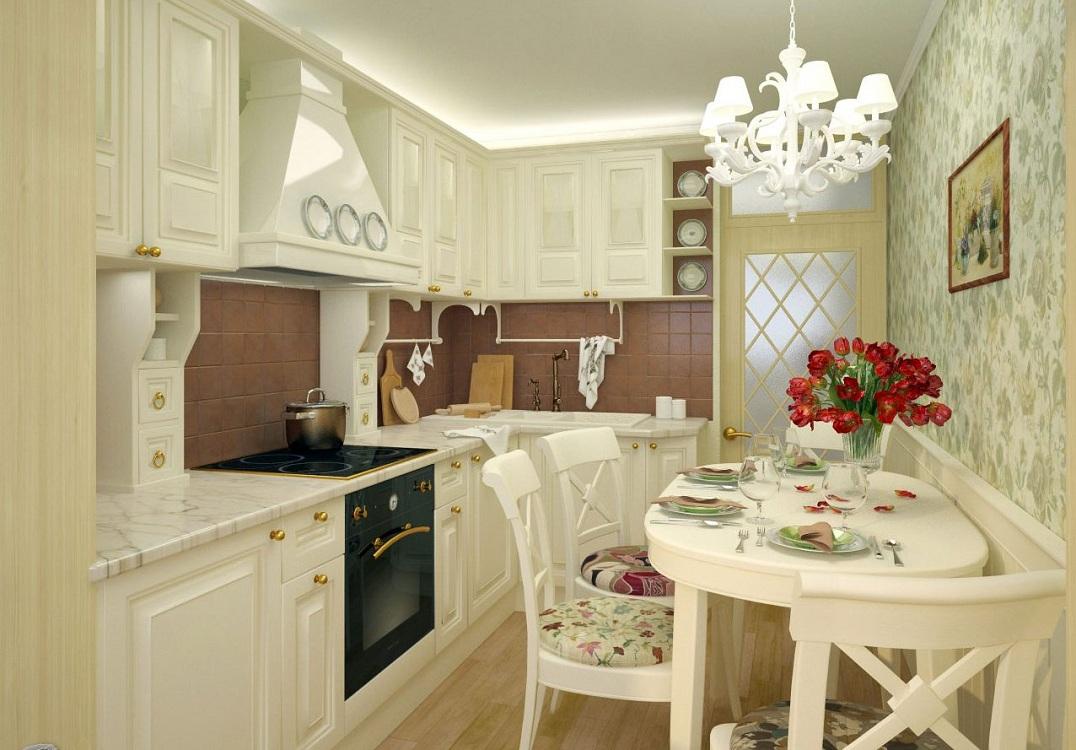 Выбор цвета для кухни в стиле прованс