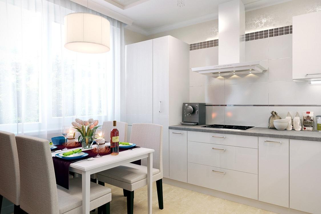 Выбор цвета гарнитура для кухни 9 м