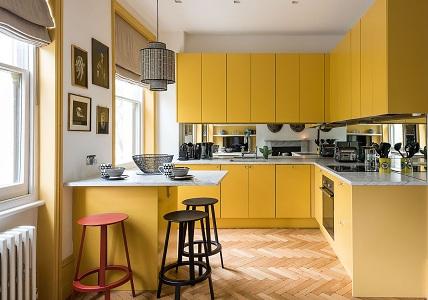 Кухни в желтых тонах: советы по оформлению