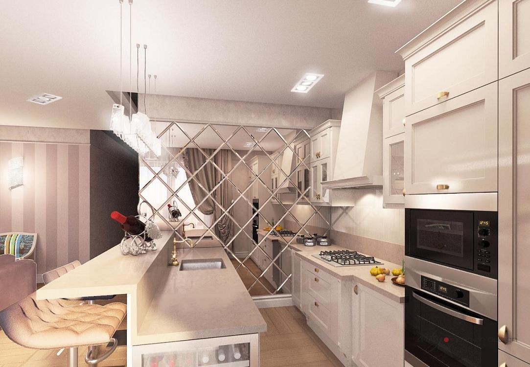 Кухня с зеркалами: места и правила расположения, советы от специалистов по фен-шуй