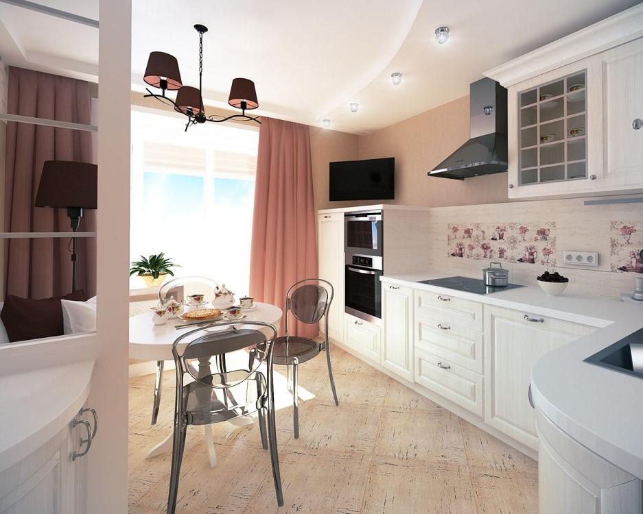 Белая кухня 10 м