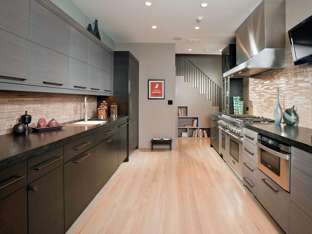 Двухрядная кухня 17 м