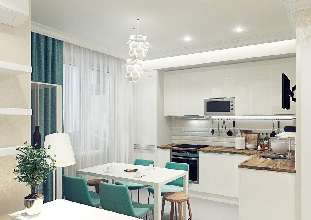 Функциональные зоны на кухне 17 метров