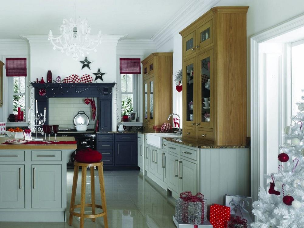 Гирлянда для украшения кухни к Новому году и Рождеству