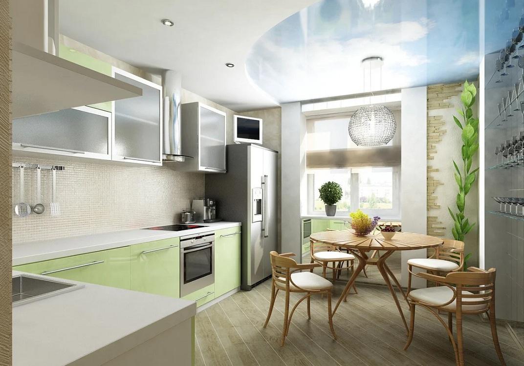 Кухня 10 м с балконом