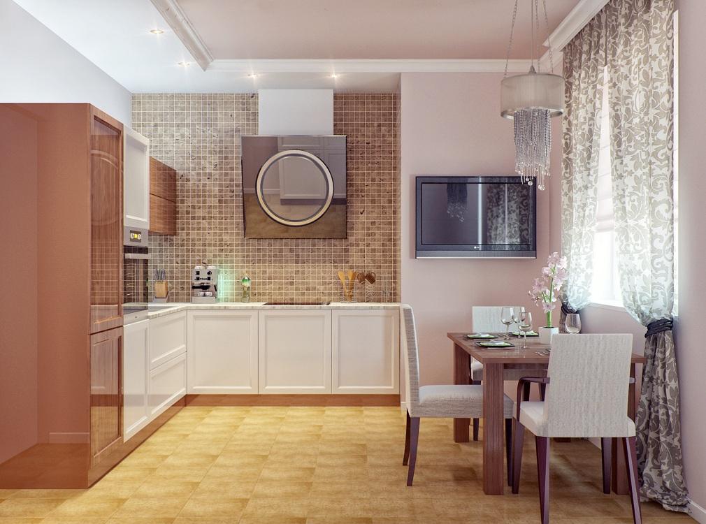Кухня 10 м с телевизором