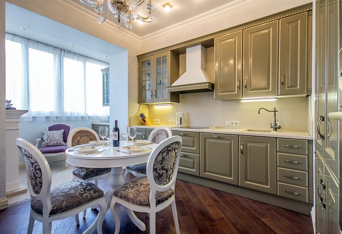 Кухня 10 м в классическом стиле