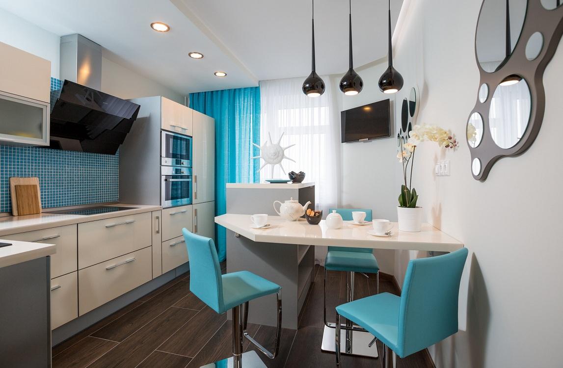 Кухня 10 м в современном стиле