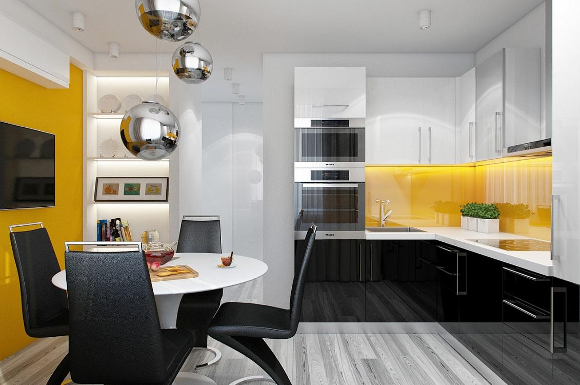 Кухня 10 м в стиле хай-тек