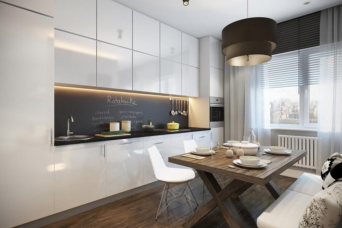 Кухня 10 м в стиле минимализм