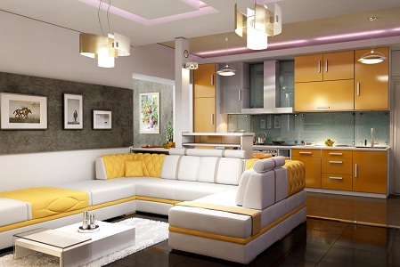 Кухня-гостиная 22 м