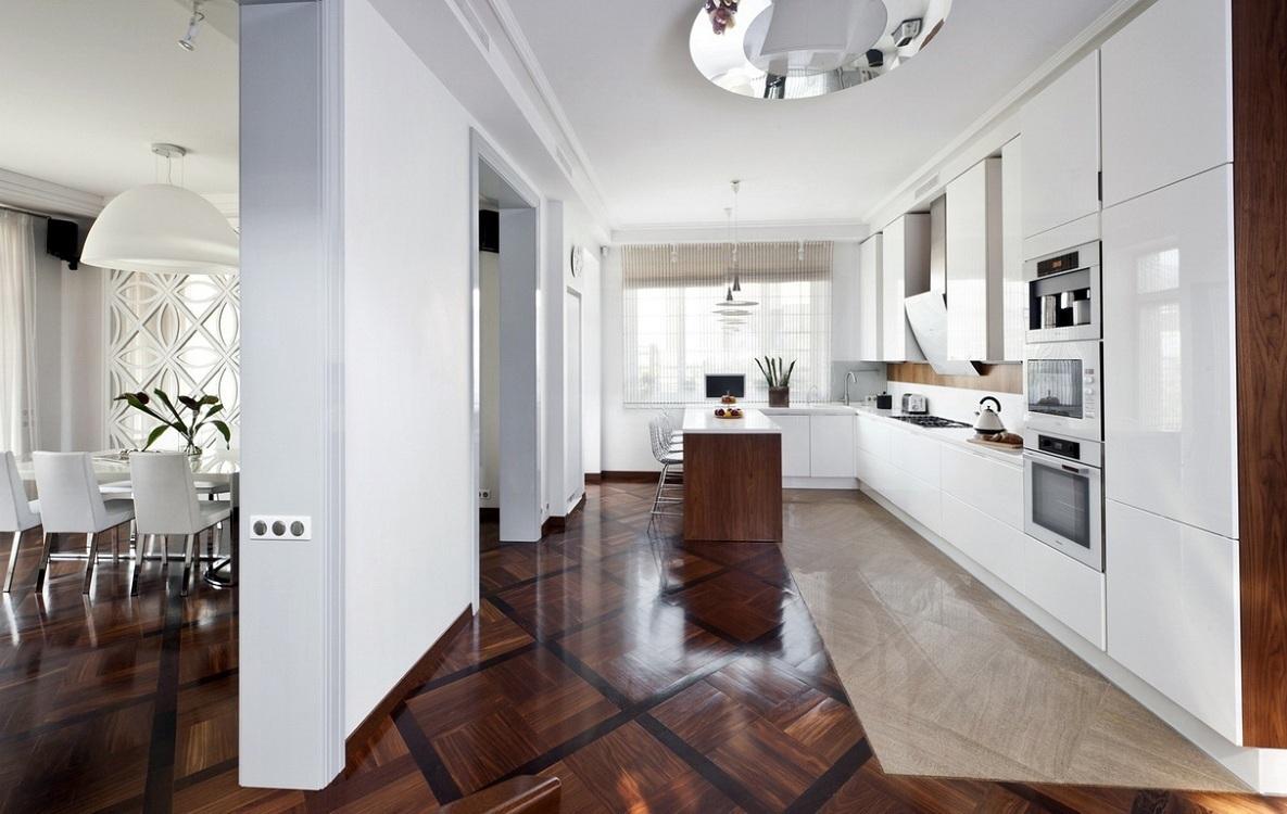 Материалы для комбинированного пола на кухне
