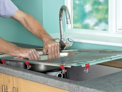 Монтаж накладной мойки для кухни