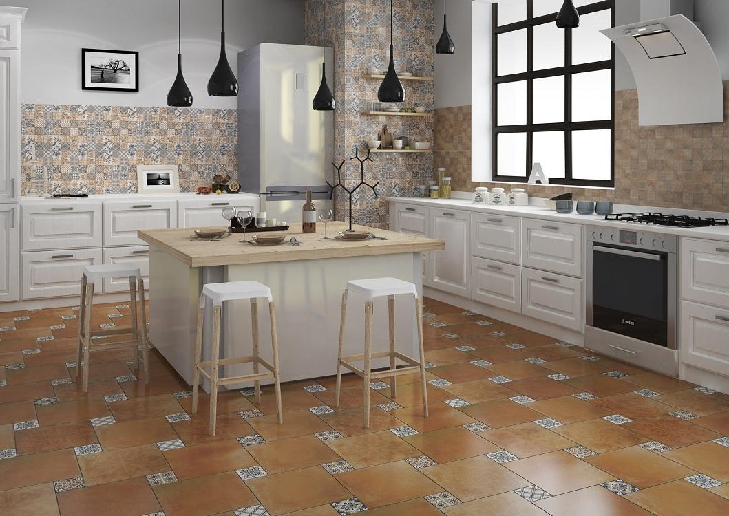 Настенная рельефная плитка на кухне