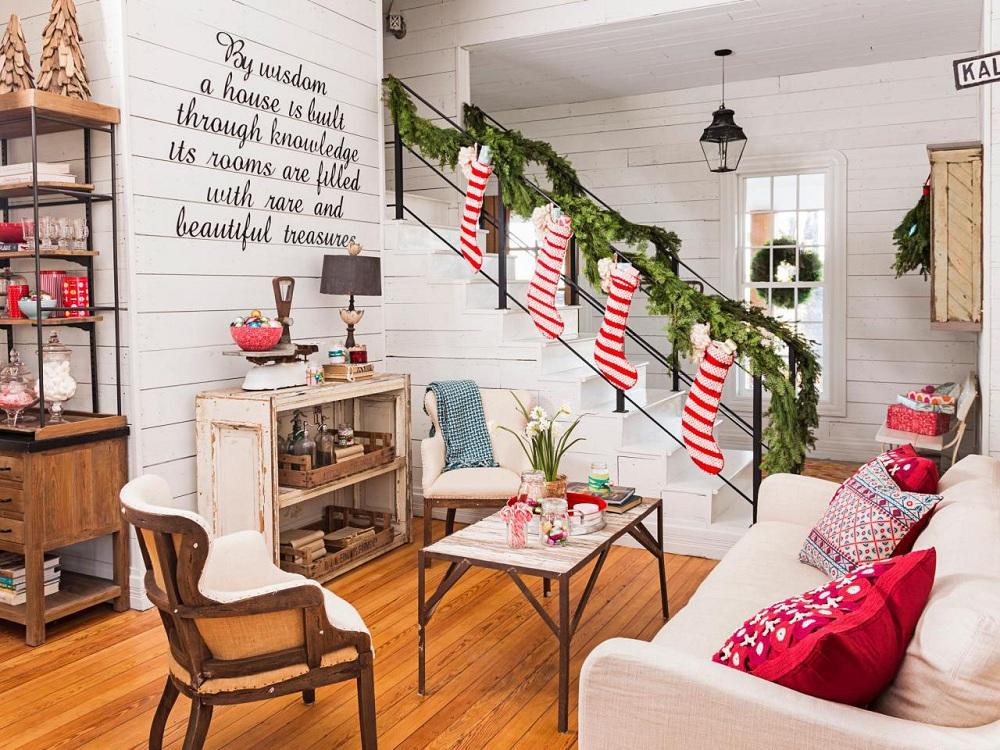 Носки для украшения кухни к Новому году и Рождеству