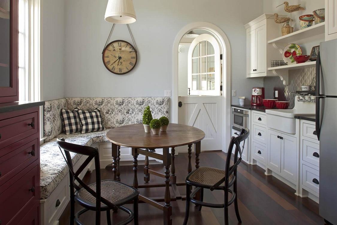 Расположение кухонного уголка на кухне