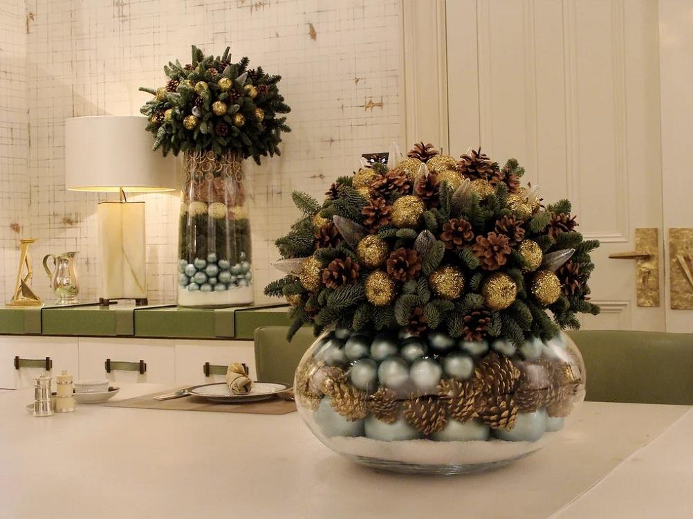 Шишки для декора кухни к Новому году и Рождеству