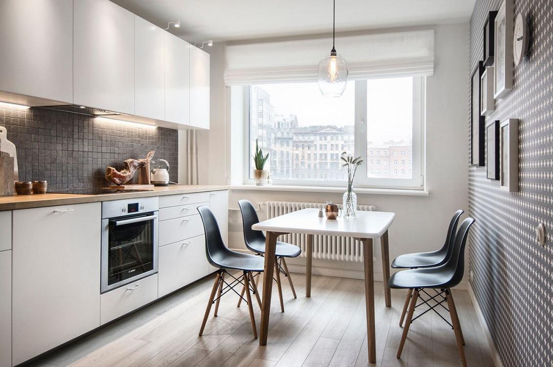 Скандинавский стиль кухни 10 м