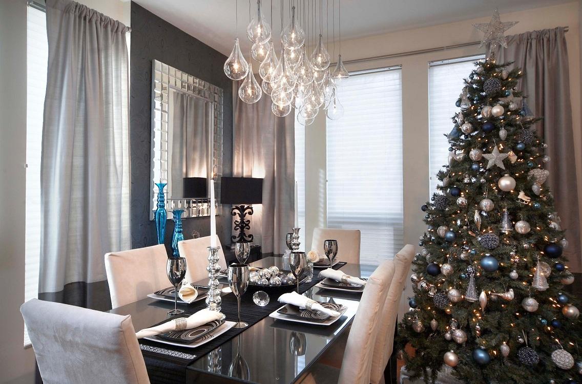 Цветовые решения при декоре кухни к Новому году и Рождеству