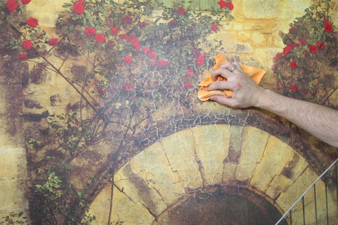 Техника нанесения фрески на стену