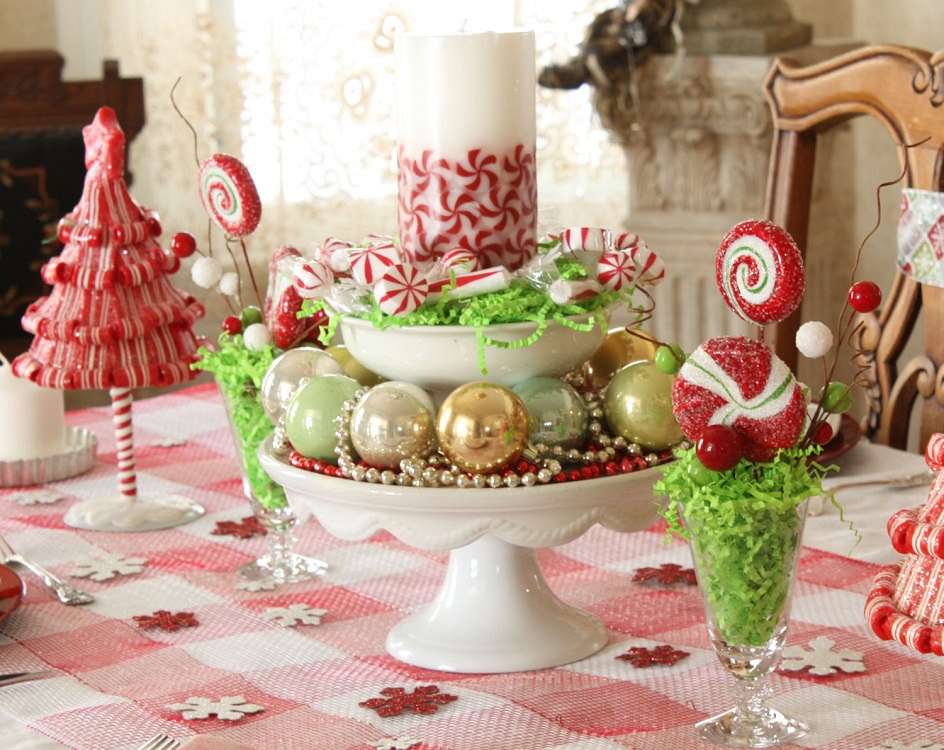 Украшаем кухню конфетами к Новому году и Рождеству