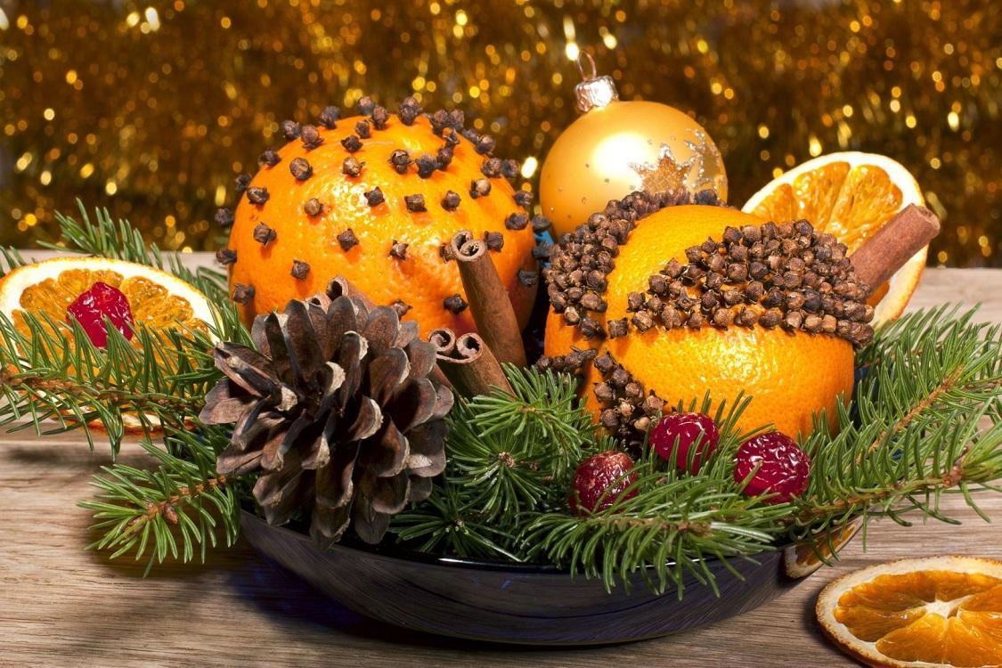 Украшаем кухню мандаринами к Новому году и Рождеству