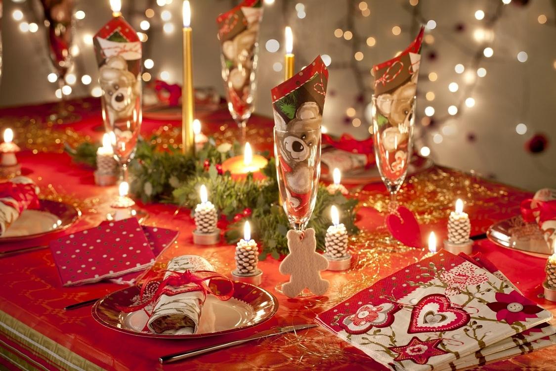 Украшение кухни к Новому году и Рождеству салфетками