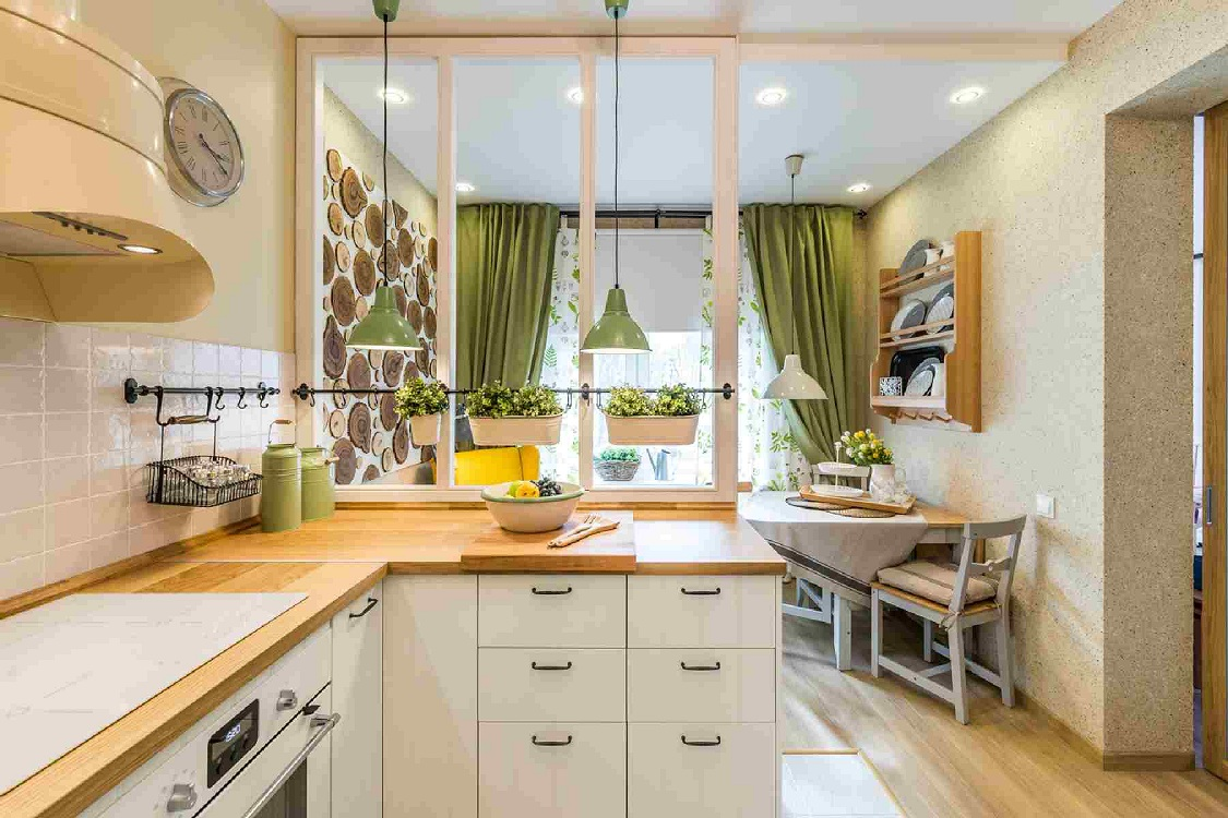 Варианты зонирования кухни 10 м