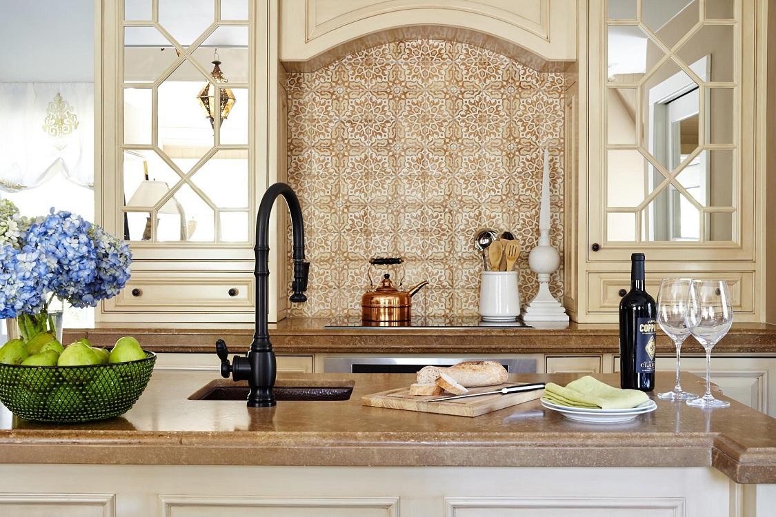 Фартук для кухни в восточном стиле