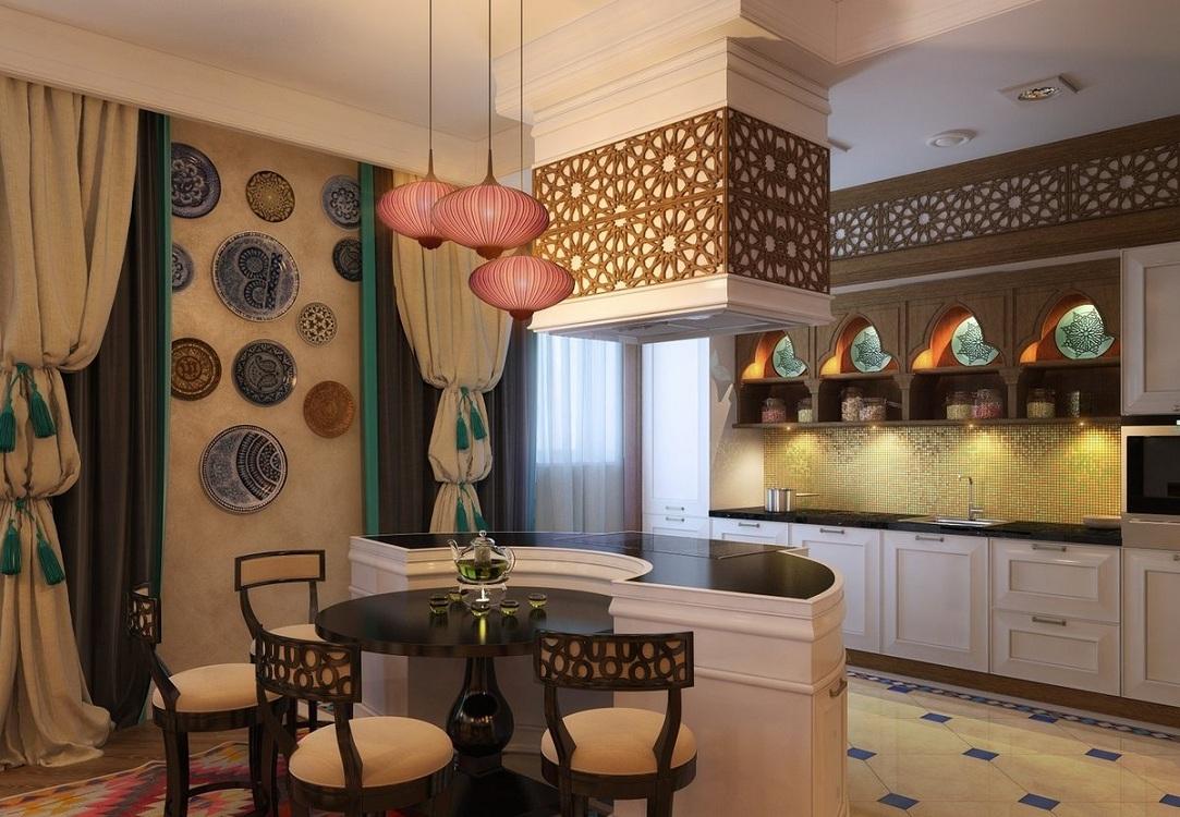 Для любителей востока — оформление кухни в стиле Марокко