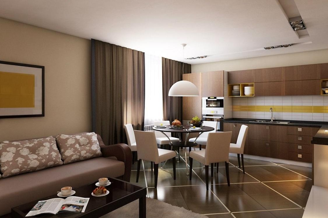 Грамотное планирование кухни-гостиной 19 метров