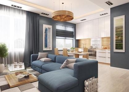 Варианты организации пространства на кухне-гостиной 23 метра
