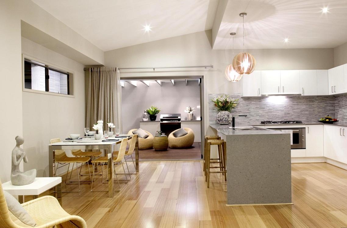 Кухня-гостиная 24 кв. м с островом
