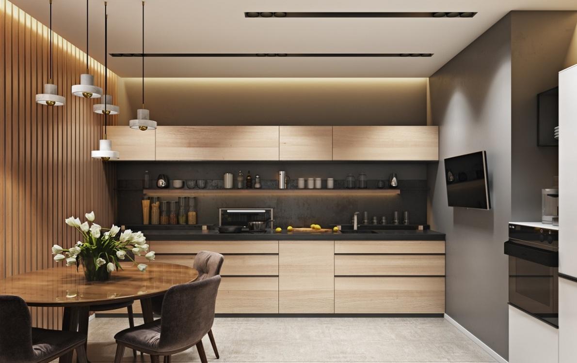 Мебель на кухне в стиле модерн
