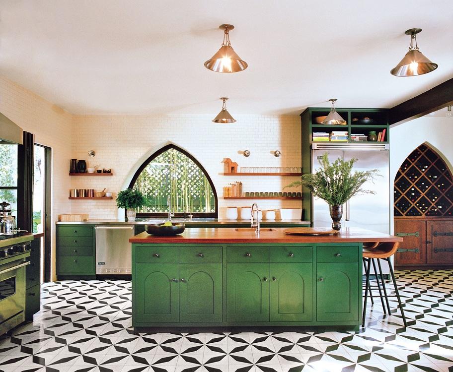 Мебель на кухне в восточном стиле