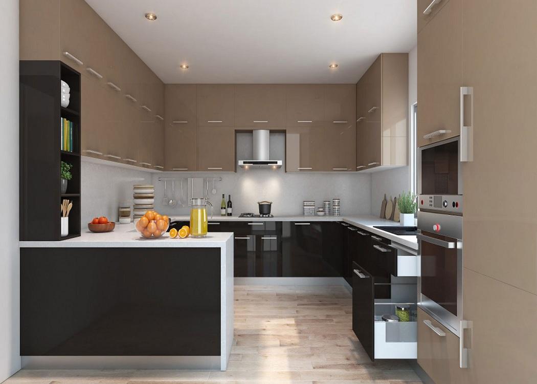 П-образная кухня 15 метров