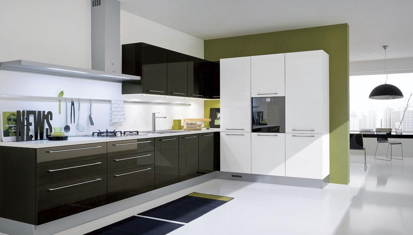 Пол на кухне в стиле модерн