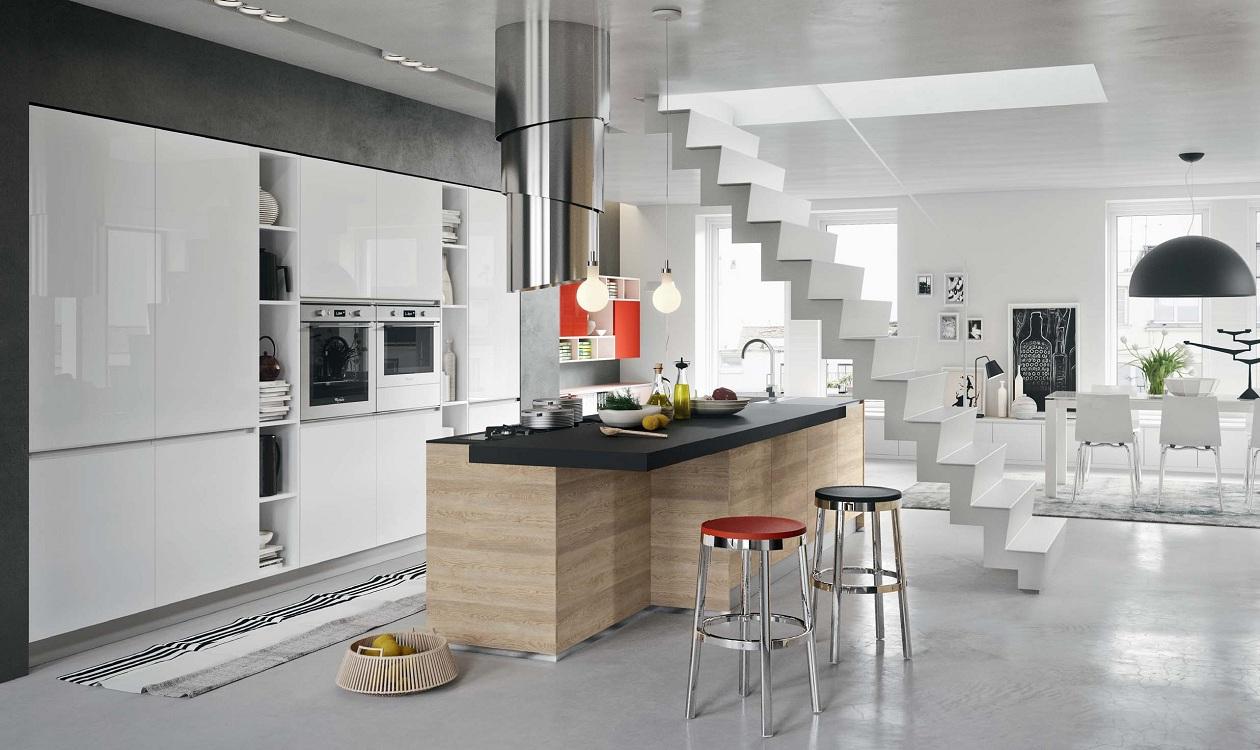 Потолок на кухне в европейском стиле