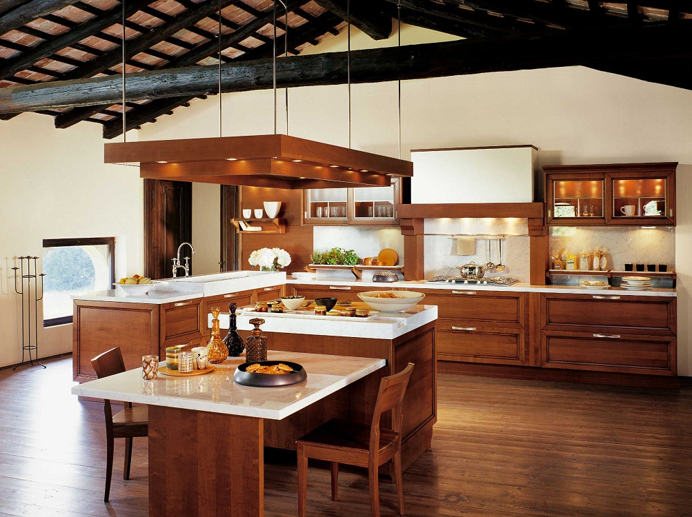 Потолок на кухне в испанском стиле