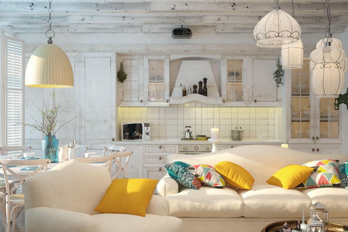 Потолок на кухне в средиземноморском стиле