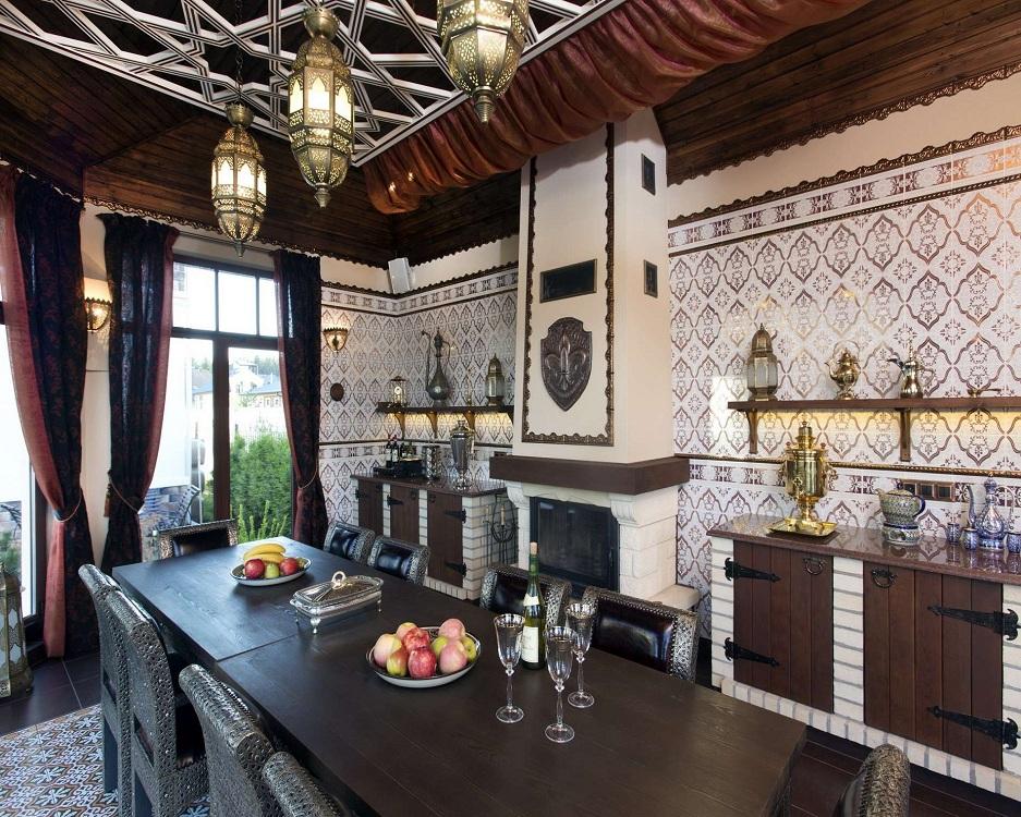 Предметы декора на кухне в восточном стиле