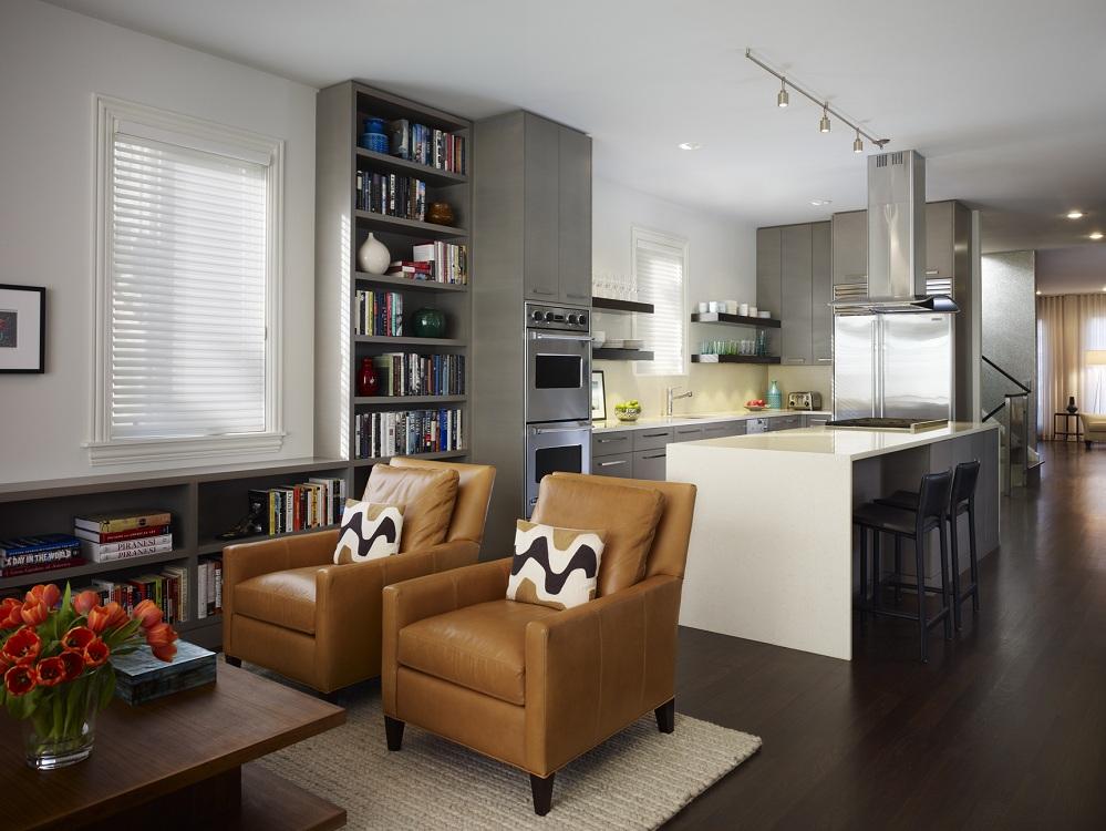 Система хранения на кухне-гостиной 23 м