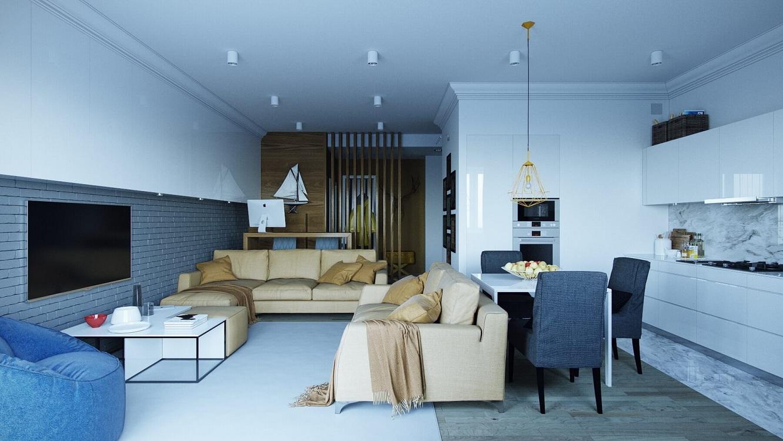 Советы дизайнеров по оформлению кухни-гостиной 25 м
