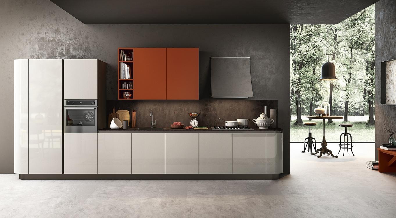 Стены на кухне в стиле модерн